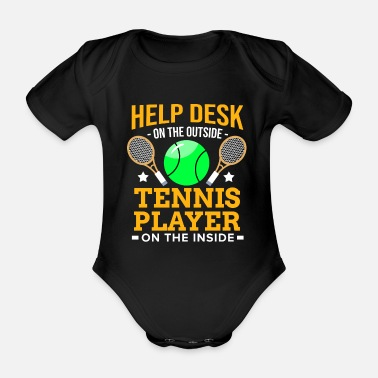 Virus tennisspiller Racket Ball Match Court Help Desk - Økologisk kortermet baby-body