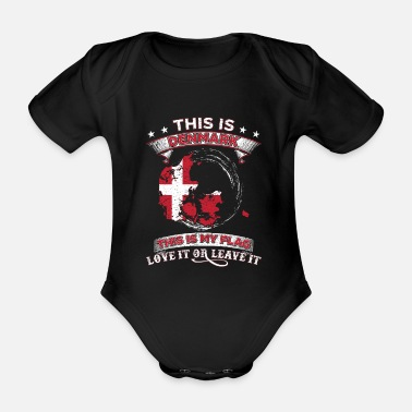 Viking This is Denmark This is my flag gift - Organic Short-sleeved Baby Bodysuit