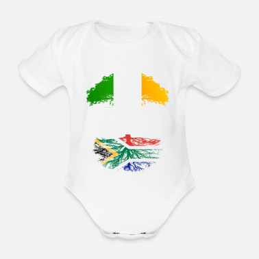 South Irish Grown With South African Roots - Organic Short-Sleeved Baby Bodysuit