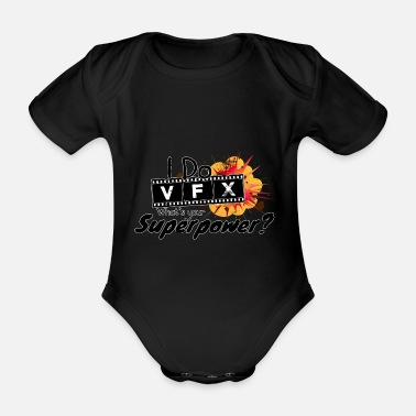 Explosion I Do VFX What's your Superpower? Visual effects - Baby Bio Kurzarmbody