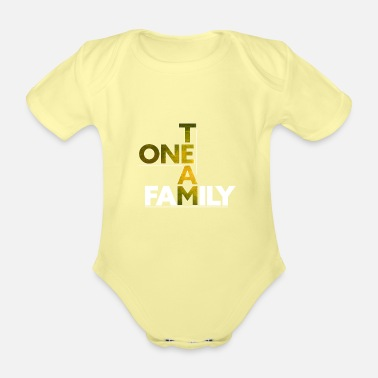 Team Spirit One Team - Family # 10 - Organic Short-Sleeved Baby Bodysuit