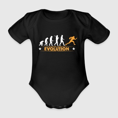 American Football - Evolution orange/weiss - Baby Bio-Kurzarm-Body