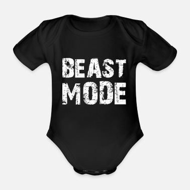 Beast Mode Beast Mode - Organic Short-Sleeved Baby Bodysuit