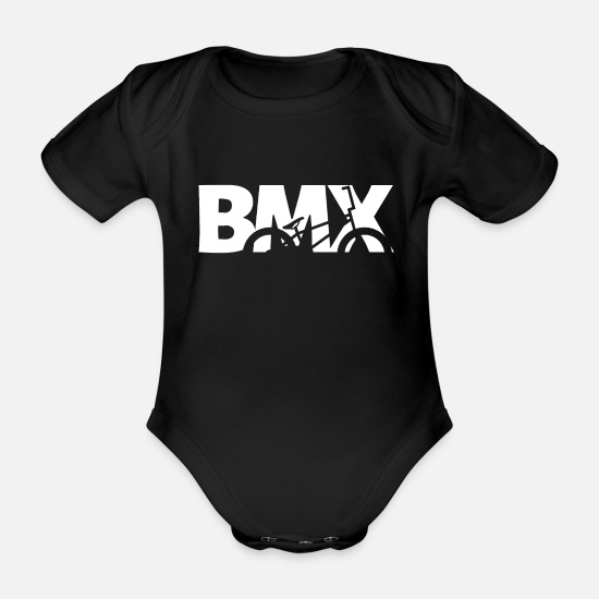 Stunt Baby Clothes - BMX - Organic Short-Sleeved Baby Bodysuit black
