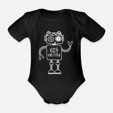 Robot, Big Brother, Siblings, Big Brother - Organic Short-sleeved Baby Bodysuit