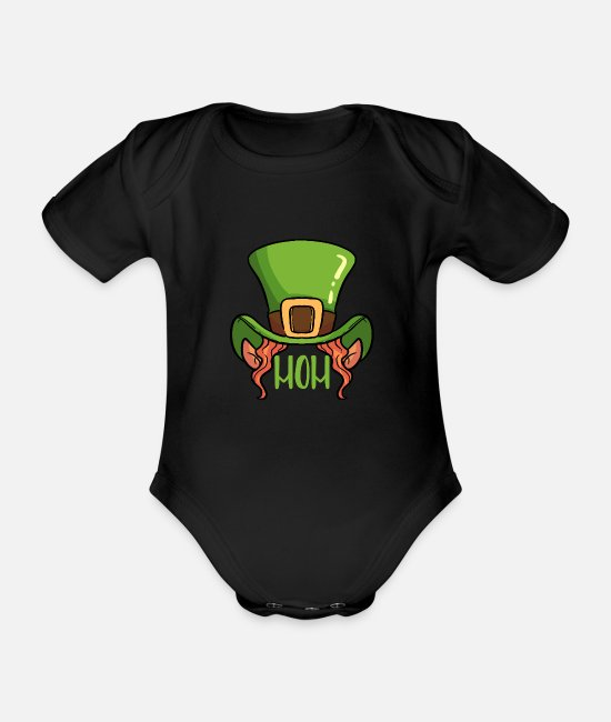 st patricks day Baby Clothes - St Patrick's Day Irish Ireland Drunk Beer Paddy - Organic Short-Sleeved Baby Bodysuit black