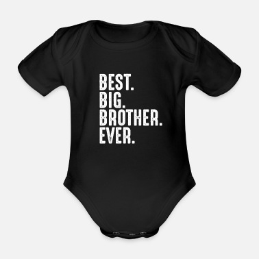 Big Brother Announcement Best Big Brother pregnancy announcement - Organic Short-Sleeved Baby Bodysuit