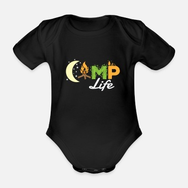 Drive Go By Car Camping Camp Life - Organic Short-Sleeved Baby Bodysuit
