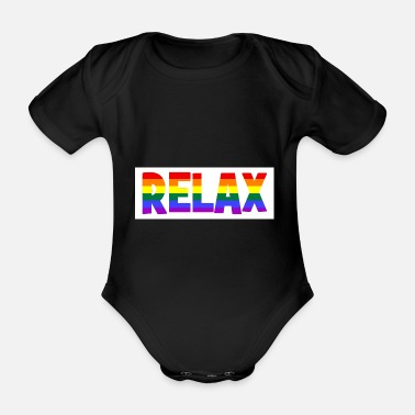 Relaxe RELAX - relax - relax - chill - chill - Organic Short-Sleeved Baby Bodysuit