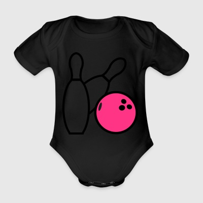 2541614 14679309 bowling - Organic Short-sleeved Baby Bodysuit