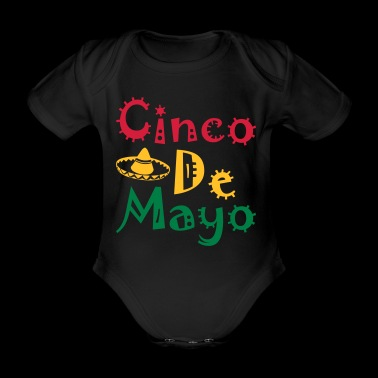Cinco De Mayo - Organic Short-sleeved Baby Bodysuit