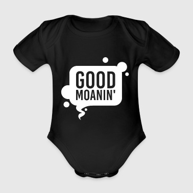 Sayings gift speech bubble comic english sport - Organic Short-sleeved Baby Bodysuit