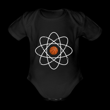 Atom Basketball Sport DNA Genetics Neutron Proton - Organic Short-sleeved Baby Bodysuit