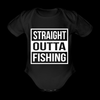 Straight Outta Fishing - Organic Short-sleeved Baby Bodysuit