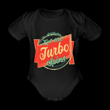 Deje que Turbo Spins Tuning Fun Shirt Turbo Shirt - Body orgánico de maga corta para bebé