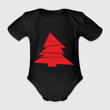 christmas winter reindeer santa claus ugly chr - Organic Short-sleeved Baby Bodysuit