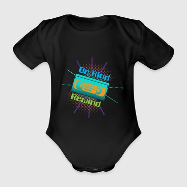 Funny VHS VCR Vintage 90s 80s - Organic Short-sleeved Baby Bodysuit