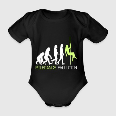 Poledance Dancer Evolution Rod Gift - Organic Short-sleeved Baby Bodysuit