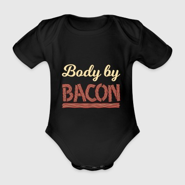 Funny Bodysuit by Bacon Shirt - Organic Short-sleeved Baby Bodysuit