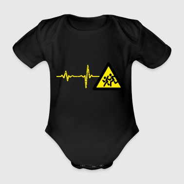 Gift Heartbeat Sprint Athletics - Organic Short-sleeved Baby Bodysuit