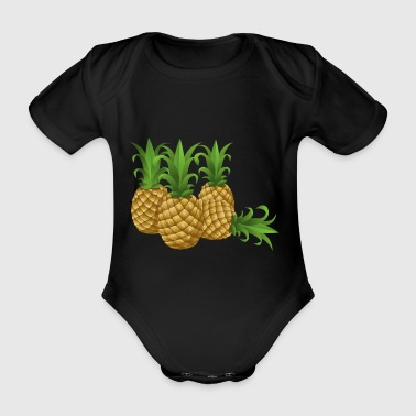 Pineapples - pineapple - Organic Short-sleeved Baby Bodysuit