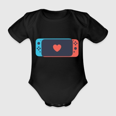 Switch Love - Organic Short-sleeved Baby Bodysuit