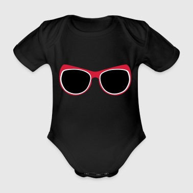 geek sunglasses 1112 - Organic Short-sleeved Baby Bodysuit