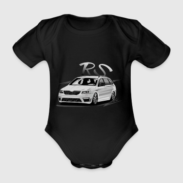 tuning car - Organic Short-sleeved Baby Bodysuit