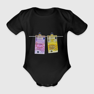 200 and 500 euros - Organic Short-sleeved Baby Bodysuit