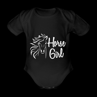Horse T-Shirt Gift for rider and rider - Organic Short-sleeved Baby Bodysuit