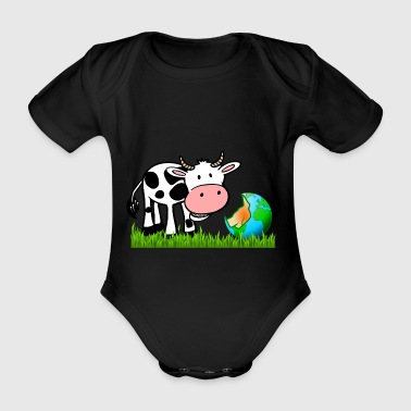 cow 153873 - Organic Short-sleeved Baby Bodysuit