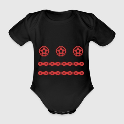 Stars n Bars DC Bike - Organic Short-sleeved Baby Bodysuit