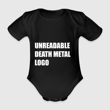 unreadable death metal logo - Body bébé bio manches courtes
