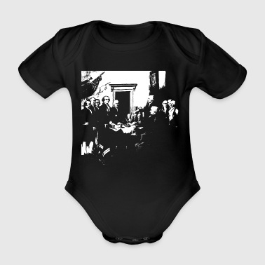 Independence declaration of the United States US - Organic Short-sleeved Baby Bodysuit