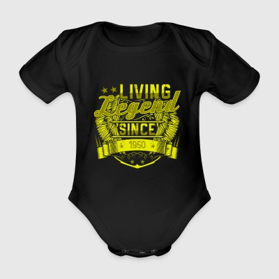 Living Legende since 1950 Geschenk Lustig Cool - Baby Bio-Kurzarm-Body