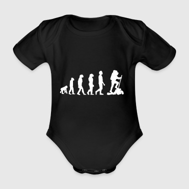 Evolution wandern - Baby Bio-Kurzarm-Body
