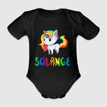 Unicorn Solange - Organic Short-sleeved Baby Bodysuit