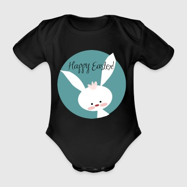 Shop happy easter baby clothing online spreadshirt happy easter happy easter easter bunny egg gift organic short sleeved baby bodysuit negle Choice Image