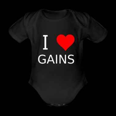 I love Gains - Baby Bio-Kurzarm-Body
