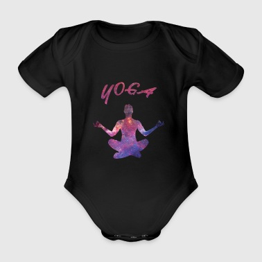 Galaxy Yoga - Organic Short-sleeved Baby Bodysuit