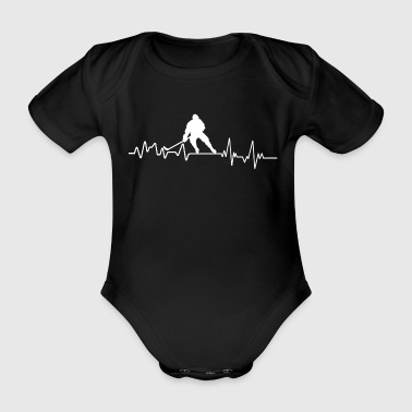 Heartbeat Hockey Spieler T-Shirt Wintersport - Baby Bio-Kurzarm-Body