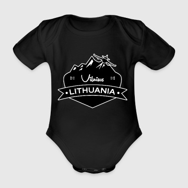 Vilnius, Lithuania - Organic Short-sleeved Baby Bodysuit