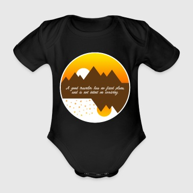 A good traveler has no plans - Organic Short-sleeved Baby Bodysuit