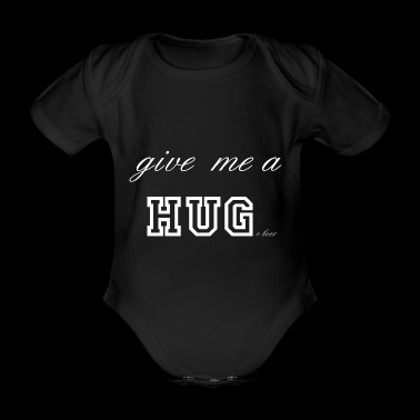 Give me a huge beer white - Organic Short-sleeved Baby Bodysuit