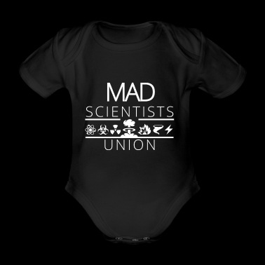Mad Scientists Union - Weiß - Baby Bio-Kurzarm-Body