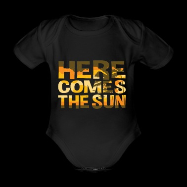 Here Comes The Sun Summer T-shirt - Organic Short-sleeved Baby Bodysuit