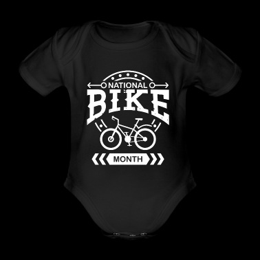 National day of cycling Cycling mountain bike - Organic Short-sleeved Baby Bodysuit
