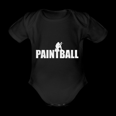 Paintball - Sport Shirt Männer - Baby Bio-Kurzarm-Body