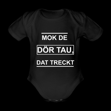 Low German saying Funny Funny Gift Idea - Organic Short-sleeved Baby Bodysuit
