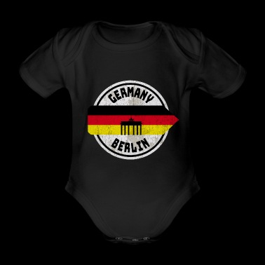 Germany Berlin motive / gift / gift idea - Organic Short-sleeved Baby Bodysuit